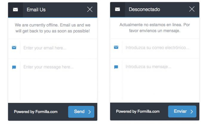 Offline Email Form English and Spanish