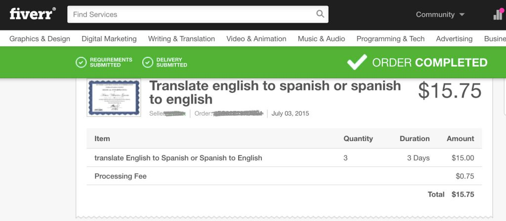 Using Fiverr for translation