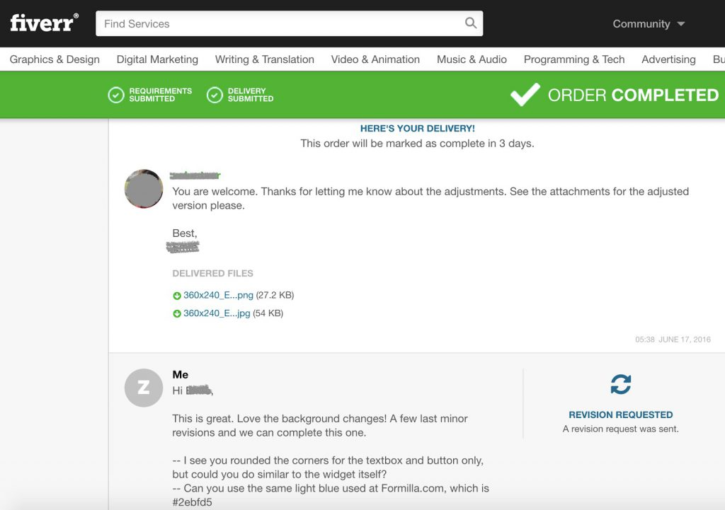 How to respond to a Fiverr seller
