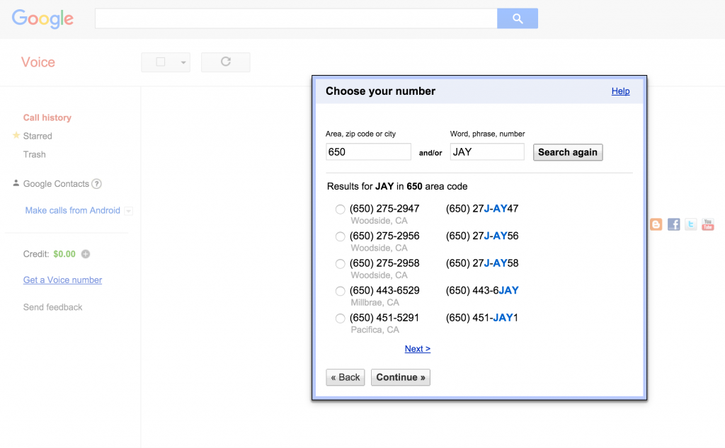 Google voice as a customer service tool