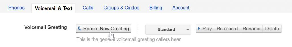 Recording a Google voicemail