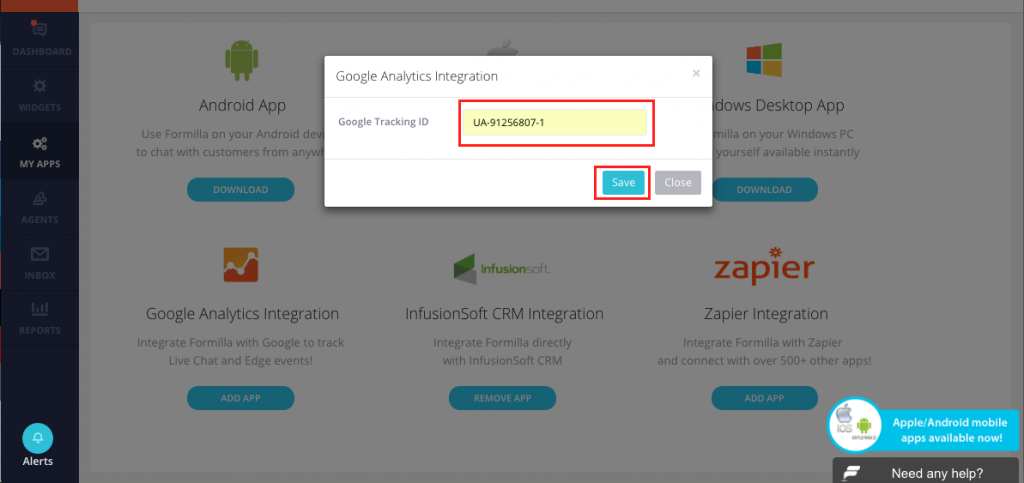 Google Analytics Integration With Formilla Live Chat ...