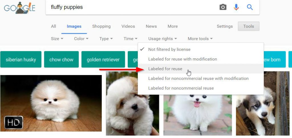 How to find legal images for your blog posts with Google.