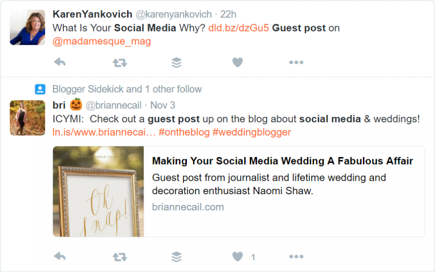 Find guest blogging opportunities on Twitter