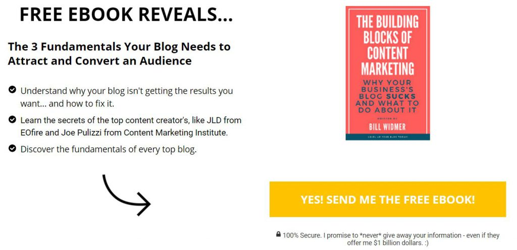 Guest post landing page example