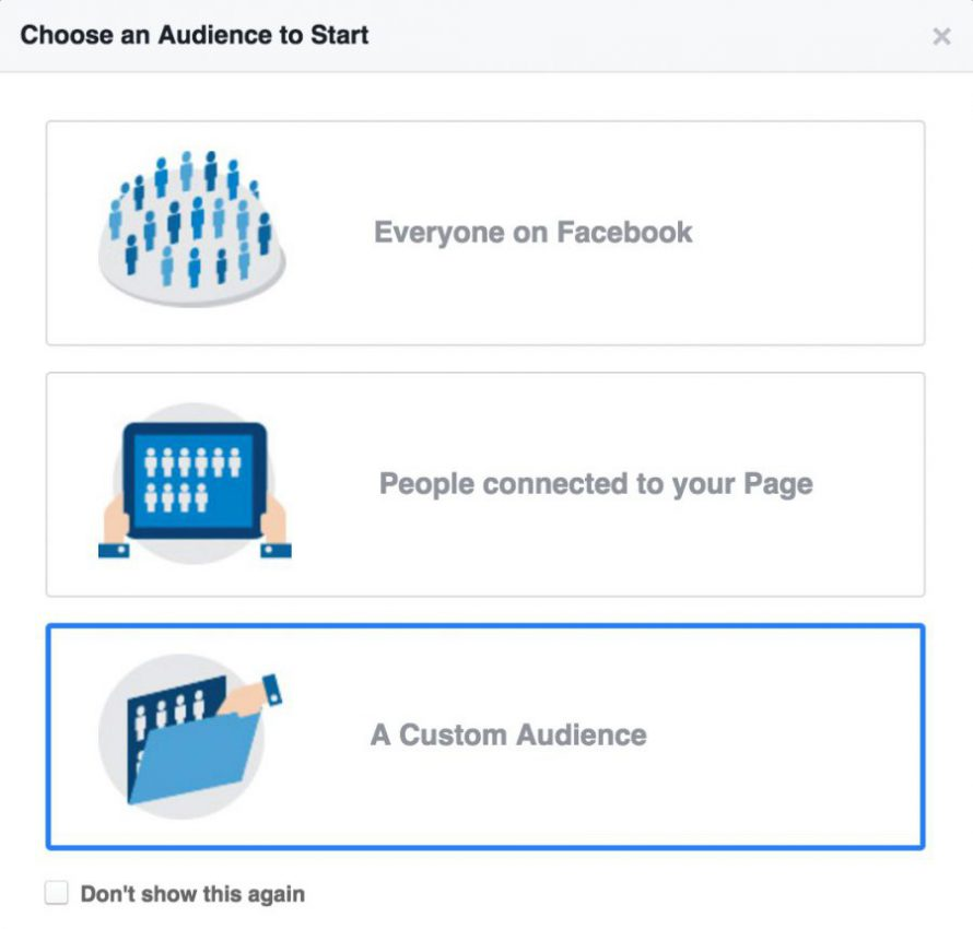 Choosing an audience on Facebook