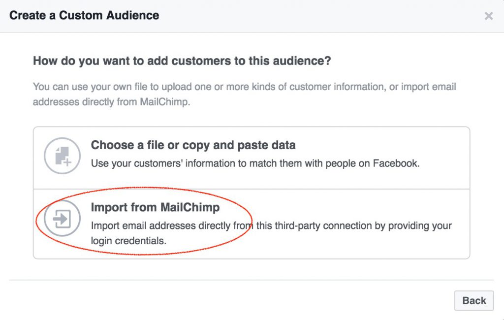 Import audience from Mailchimp