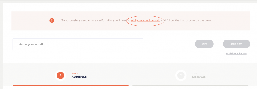 Add email domain link