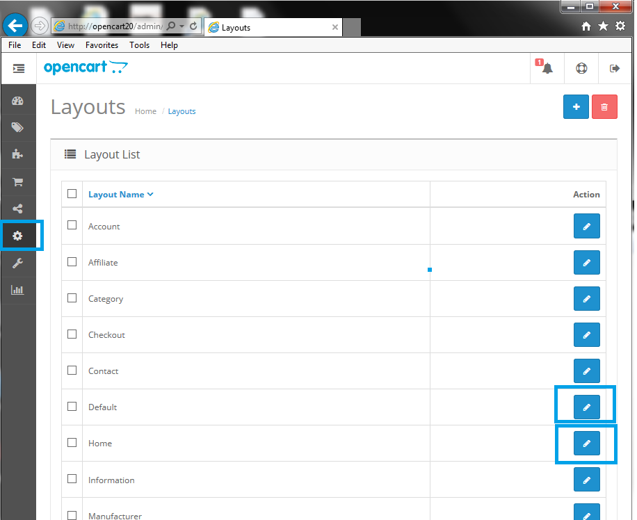 OpenCart Formilla Live Chat Layout Configuration
